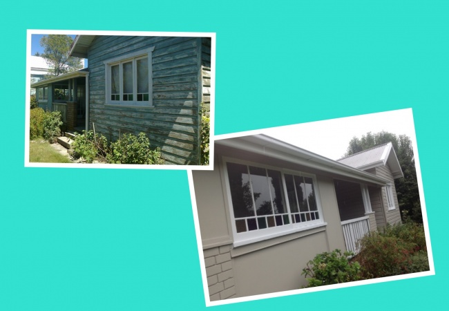 Restore the beauty of an older home, this home was pressure cleaned, sanded then painted in new fresh colours.